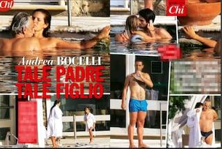 """Andrea Bocelli """"a mollo"""" alle terme, con lui la moglie Veronica e i tre figli"""