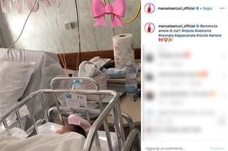 """È nata Nicole Arcuri, figlia di Sergio Arcuri e Valentina Donazzolo. Zia Manuela: """"Benvenuta amore"""""""