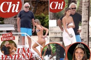 Flavio Briatore in vacanza con Benedetta Bosi, la presunta nuova fidanzata ha 49 anni meno di lui