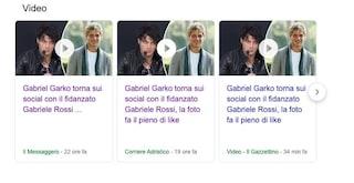 """""""Gabriel Garko con il fidanzato Gabriele Rossi"""", i giornali rivelano un coming out mai avvenuto"""