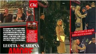 Diletta Leotta al ristorante con Daniele Scardina, con loro c'è anche Gigi D'Alessio