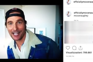Matthew McConaughey approda su Instagram come Jennifer Aniston