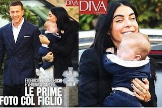 Le prime foto di Veronica Ciardi con il figlio e Federico Bernardeschi, calciatore della Juve