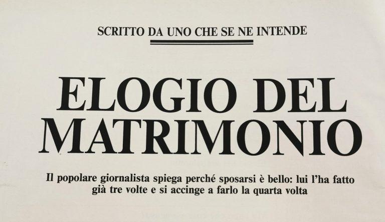 L'editoriale firmato da Maurizio Costanzo per Gente Mese marzo 1992
