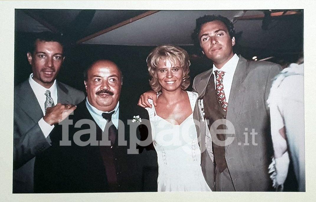 Claudio Noto al matrimonio di Maria De Filippi e Maurizio Costanzo nel 1995