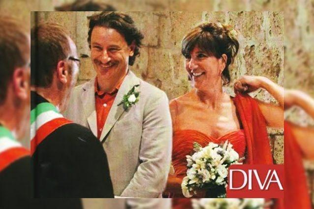Giorgio Tirabassi e Francesca Antonini al loro matrimonio nel 2012, foto: Diva e Donna
