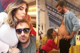 """Bianca Atzei non è incinta di Stefano Corti, lui smentisce con un post ironico: """"Sono di 7 mesi"""""""
