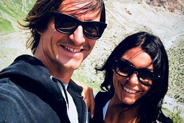Con la fidanzata Cristina Tomasini