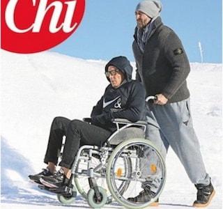 Lapo Elkann dopo l'incidente, la foto in sedia a rotelle a Saint Moritz