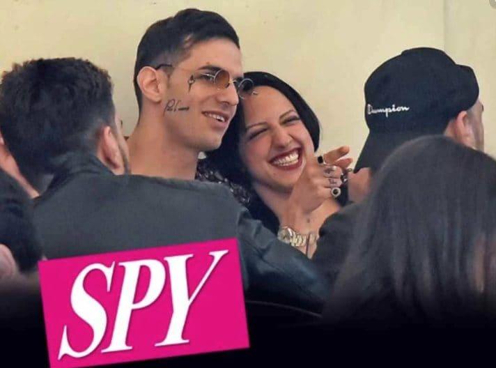 Achlle Lauro e la sorellastra, scambiata per la sua fidanzata (Foto di Spy)