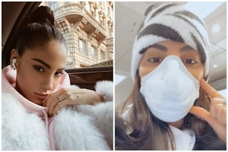 "Giulia De Lellis con la mascherina sul viso teme il coronavirus: ""Scusate, sono ipocondriaca"""