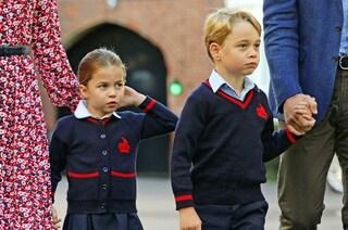 La scuola di George e Charlotte isola 4 compagni per il coronavirus, erano stati in Italia