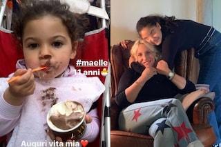 """Maelle compie 11 anni, Antonella Clerici: """"Auguri vita mia, amore infinito della mamma"""""""