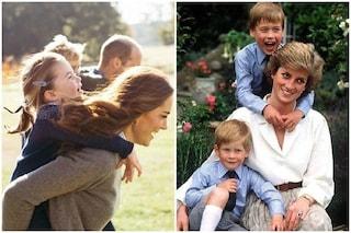 """Le foto di Kate e Diana per il Mother's Day, il messaggio alle famiglie: """"Pensiamo a tutti voi"""""""
