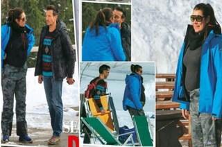 Alena Seredova sfoggia il pancione sulla neve, l'ex moglie di Buffon aspetterebbe una bambina