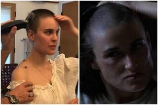 Bruce Willis rasa a zero la figlia Tallulah ed è uguale a Demi Moore in Soldato Jane