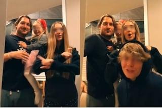 Chanel Totti su Tik Tok con papà Francesco e i fratelli, ma è uguale a mamma Ilary Blasi