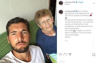 """Morta la nonna di Andrea Preti, le parole dell'attore: """"Non so descrivere il dolore che ho dentro"""""""