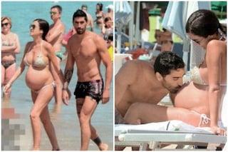 Filippo Magnini e Giorgia Palmas tenerezze al mare col pancione in bella vista