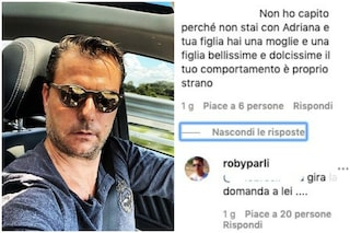 "Adriana Volpe e Roberto Parli lontani, lui rifiuta le domande ma sottolinea: ""Chiedete a lei"""