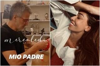 """Quante volte a settimana fai l'amore?"", così Belén Rodriguez intervista papà Gustavo"