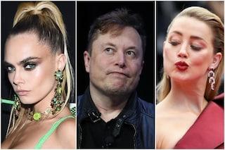 Elon Musk e la relazione a tre con Amber Heard eCara Delevingne, il magnate smentisce tutto