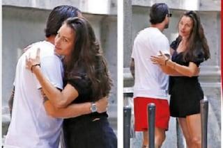 Marica Pellegrinelli bacia Marco Borriello ma è solo un saluto, è caccia al nuovo fidanzato