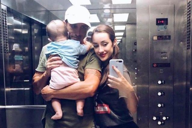 Adara e Hugo Sierra con il figlio Martin