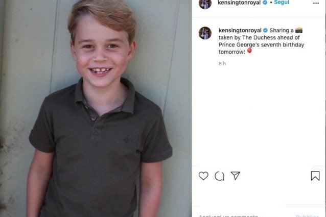 Baby George festeggia sette anni: gli scatti sui social