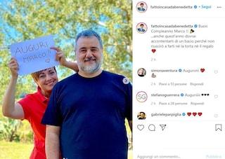 Benedetta Rossi e i dolci auguri al marito Marco per il suo compleanno