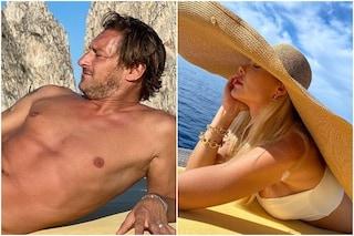 Francesco Totti sexy capitano a Capri, è sfida di stile con la moglie Ilary Blasi