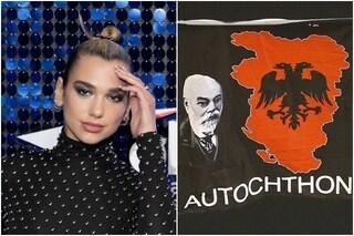 """Dua Lipa twitta """"Grande Albania"""", la pop star del Kosovo accusata di estremismo nazionalista"""