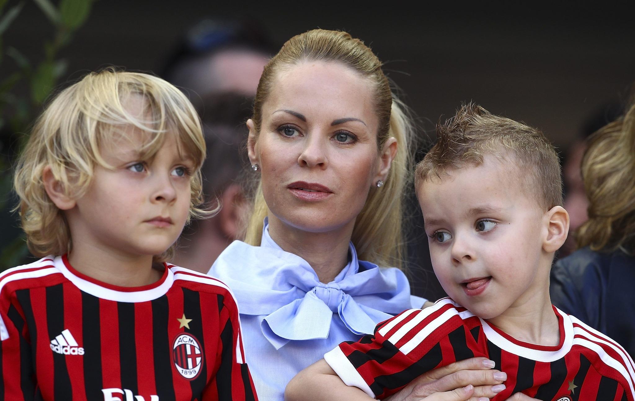 Helena Seger con i figliMaximilian e Vincent