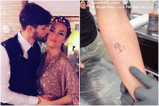 Anna Boschetti e il tatuaggio dedicato a Temptation Island: una palma sul braccio