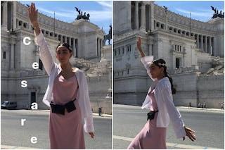 Quando Armine Harutyunyan, modella di Gucci vittima di body shaming, faceva il saluto romano