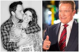 Chris Pratt e Katherine Schwarzenegger sono genitori, Arnold è nonno per la prima volta