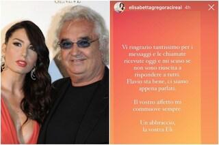 """Elisabetta Gregoraci sul ricovero di Flavio Briatore: """"Sta bene, il vostro affetto mi commuove"""""""
