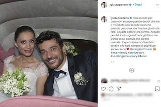 """Giuseppe Zeno, la dedica per l'anniversario con Margareth Madè: """"L'amore non accade per caso"""""""