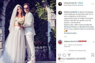 """Francesco Facchinetti, la foto delle nozze: """"Ho sposato mia moglie per la seconda volta"""""""