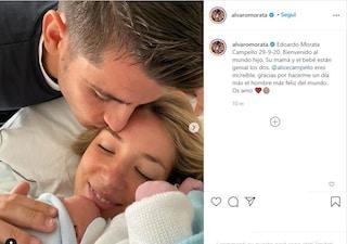 Alvaro Morata e Alice Campello di nuovo genitori, è nato Edoardo