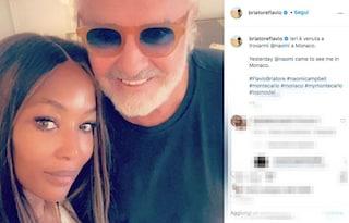 """Flavio Briatore e Naomi Campbell di nuovo insieme sui social: """"Ieri è venuta a trovarmi"""""""