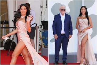 Georgina Rodriguez arriva in jet a Venezia 2020, sfila senza Cristiano Ronaldo con Pedro Almodovar