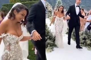 Elettra Lamborghini ha sposato Afrojack, il sì sul lago di Como: il primo video delle nozze