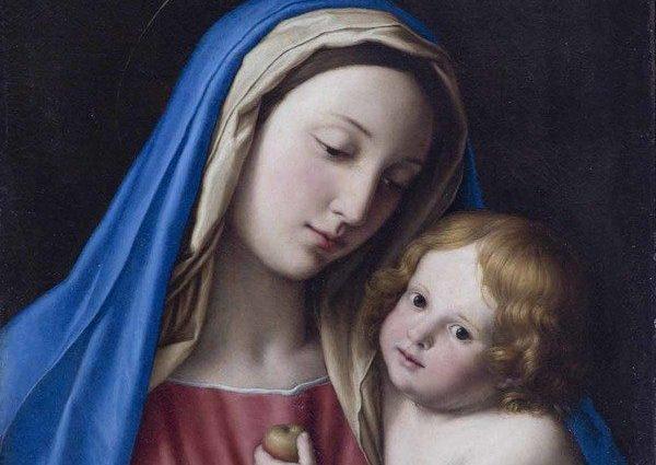 Il dipinto Madonna con bambino diGiovanni Battista Salvi,detto il Sassoferrato.