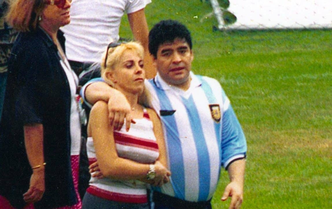 Maradona con la moglie Claudia