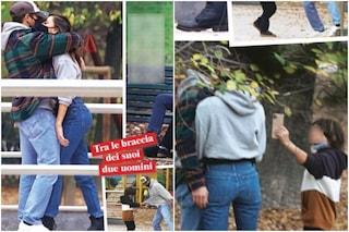 Belén abbraccia Antonino Spinalbese, è Santiago a scattare loro le foto ricordo