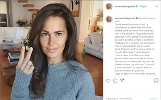 """Samantha de Grenet: """"Anche io ho dovuto affrontare il dannatissimo Covid"""""""