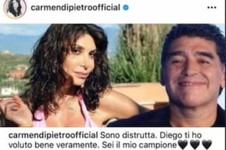 """Rimosso fotomontaggio con Maradona, Carmen Di Pietro a Fanpage: """"Ne ero innamorata, chiedo scusa"""""""