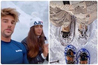 Andrea Damante con Elisa Visari in vacanza sulla neve, le prime immagini insieme