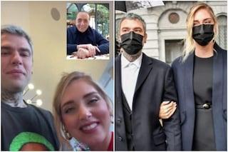 Chiara Ferragni e Fedez ricevono la videochiamata di Silvio Berlusconi